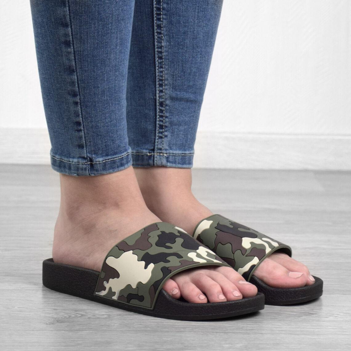 9f6fdb44d7 Terepmintás Női Szintetikus Papucs - NŐI PAPUCS - Női cipő webáruház ...