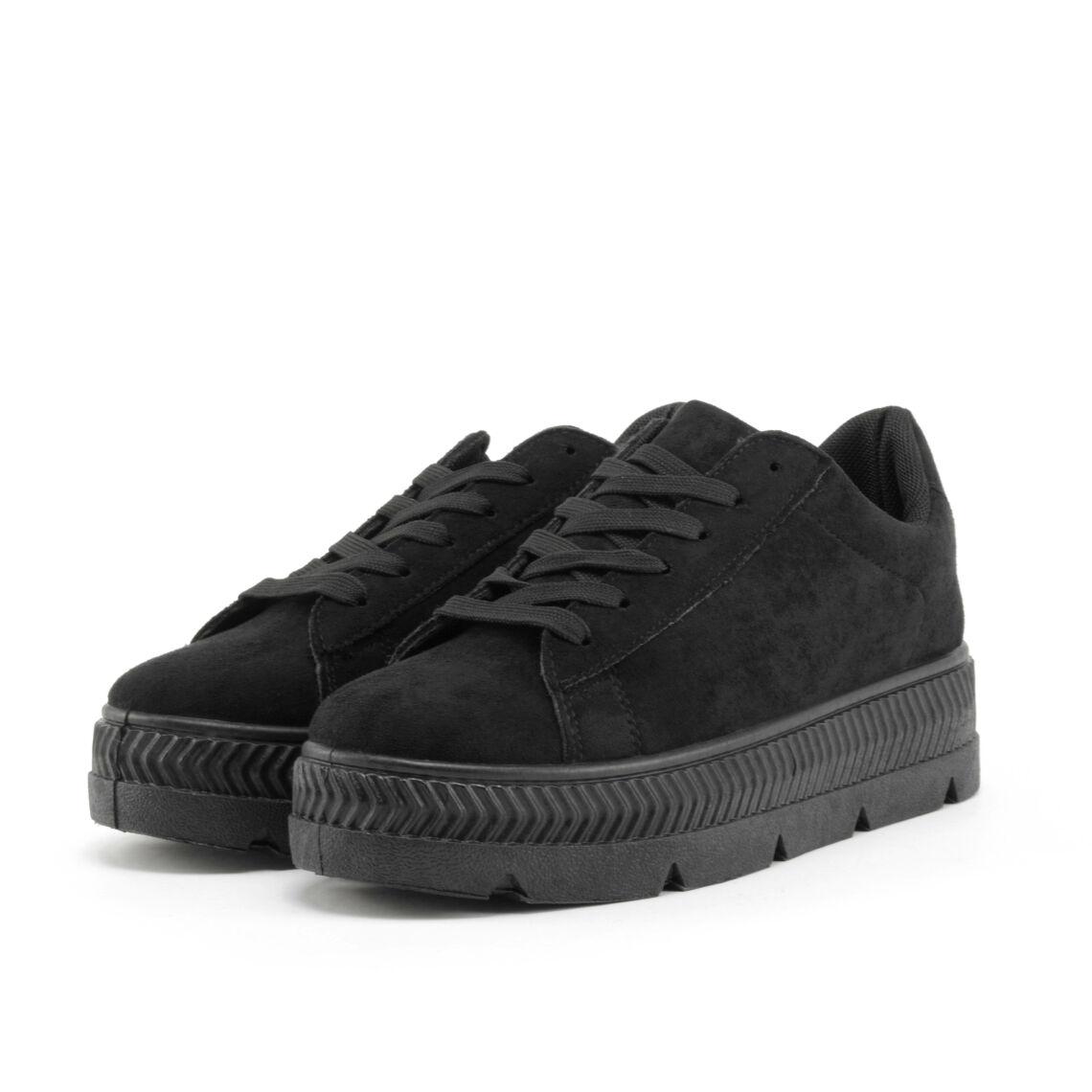 62ad49fc7392 Fekete Női Művelúr Utcai Cipő - MAGAS TALPÚ - Női cipő webáruház-női ...
