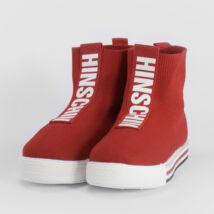 Piros Magasszárú Unisex Utcai Szövet Cipő
