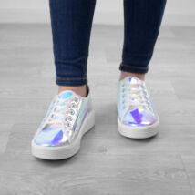 Női Fehér és Színesen Csillogó Utcai Cipő