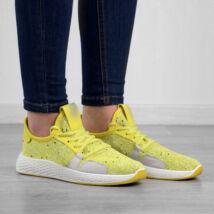 sárga szintetikus légáteresztő női sportcipő