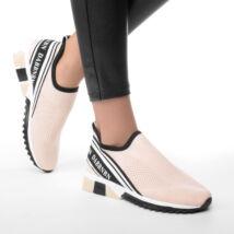 Rózsaszín Női Poliészter Slip-On Sportcipő