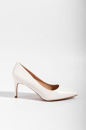 Fehér Szatén Női Magassarkú Cipő