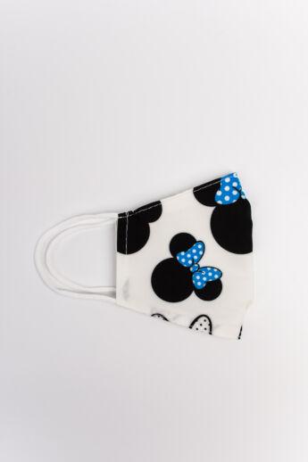 Minnie Mouse Kék 2 Rétegű Trendi Textil Gyerek Szájmaszk