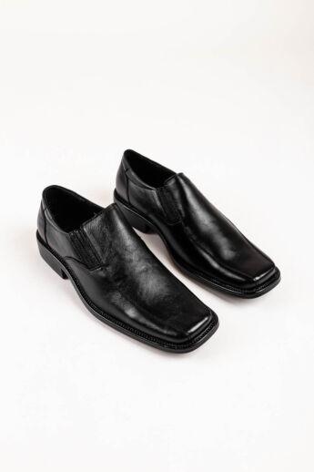 Fekete Férfi Fűző Nélküli Valódi Bőr Utcai-Alkalmi Cipő