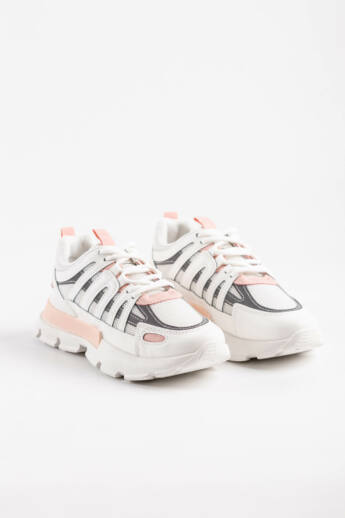 Rózsaszín Női Vastagtalpú Sneaker Fényvisszaverő Csíkokkal