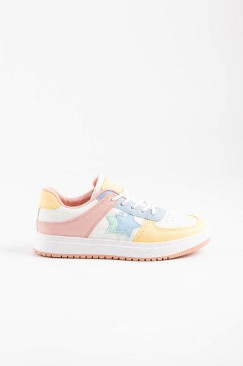 Színes Magas Talpú Női Sneaker/Sportcipő