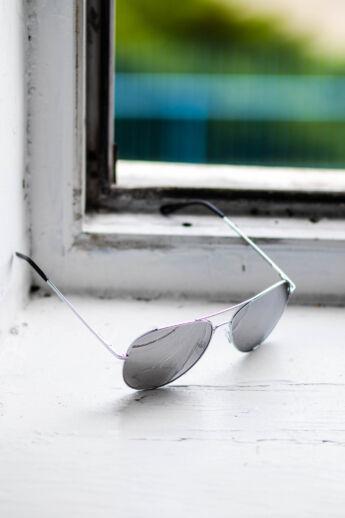 CLOUD Ezüst Színű Pilóta Napszemüveg Tükrös Lencsékkel