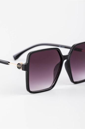 A & ONE Sötétlila Színátmenetes Lencséjű Nagyméretű Szögletes Napszemüveg
