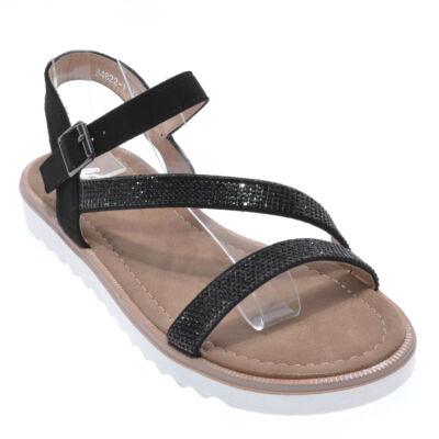 B4822 Fekete Női Művelúr Szandál - LAPOS TALPÚ SZANDÁLOK - Női cipő ... d8442da972