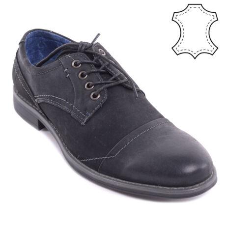 Fekete Férfi Valódi Bőr Alkalmi Cipő