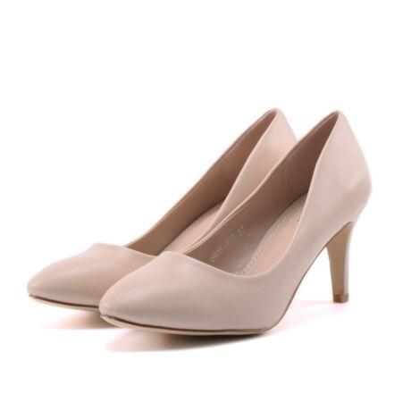 Bézs női műbőr magassarkú - ALKALMI CIPŐK - Női cipő webáruház-női ... fba9d765f1