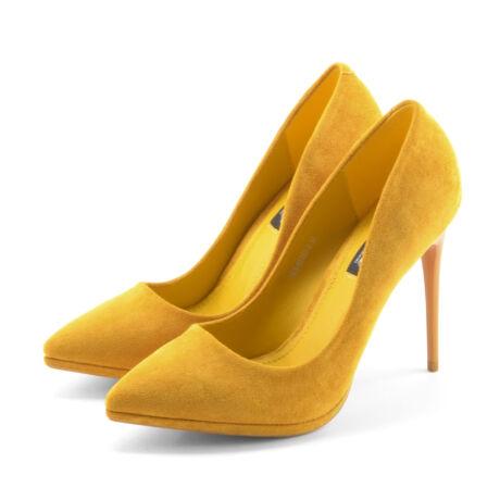 Női Mustársárga Művelúr Magassarkú Cipő - ALKALMI CIPŐK - Női cipő ... a19f535ac4