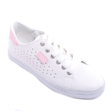 Fehér-Rózsaszín Női Műbőr Félcipő - UTCAI CIPŐK - Női cipő webáruház ... 9ef92425c4