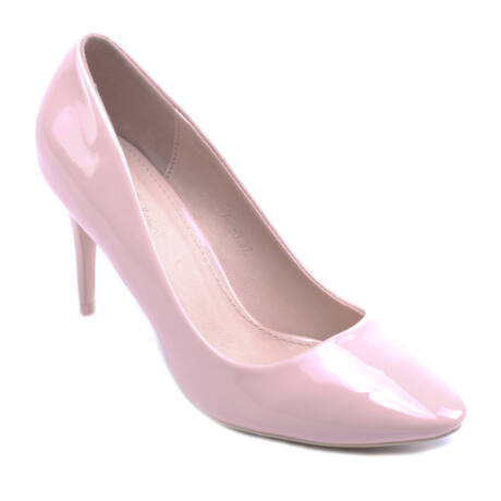 Női Lakk Magassarkú Rózsaszín