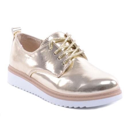 Női Műbőr Félcipő Cipő Arany