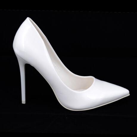 Small Swan Fehér Lakk Magassarkú Cipő