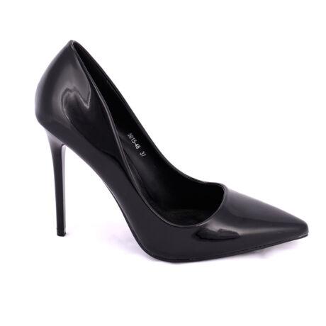 Small Swan Fekete Lakk Magassarkú Cipő