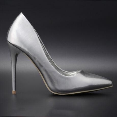 Small Swan Ezüst Lakk Magassarkú Cipő
