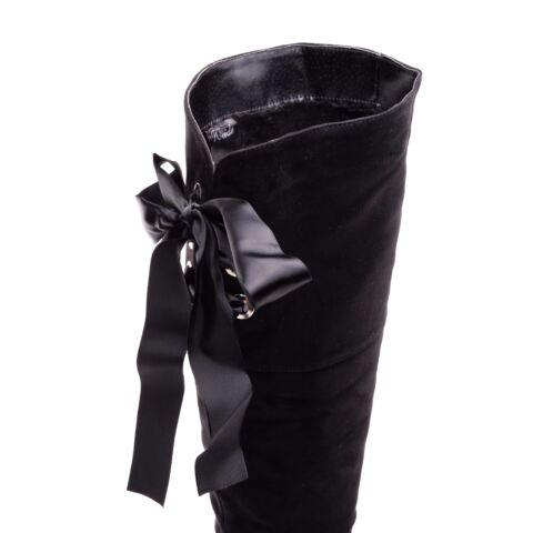 Női Fekete Művelúr Magasszárú Csizma