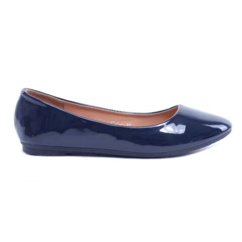 Kék Női Lakk Balerina Cipő