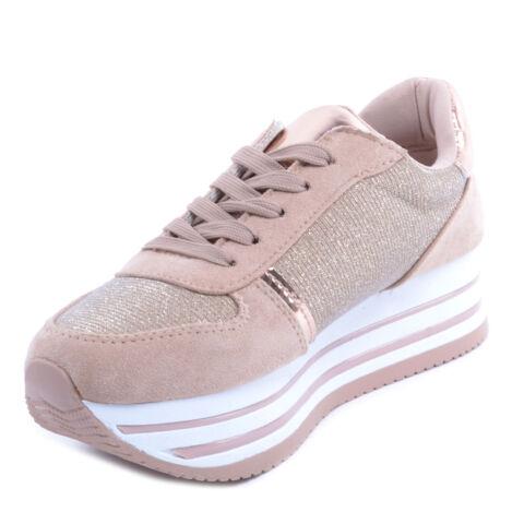 Női Platformos Sportcipő Rózsaarany