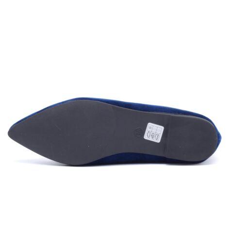 Kék masnis művelúr balerina cipő