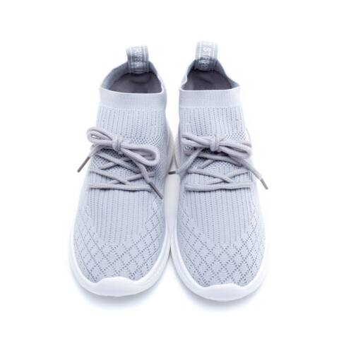 Női szürke gumis poliészter sportcipő