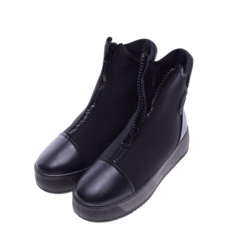 03bb32f39e Női Fekete Műbőr Platform Félcipő - MAGAS TALPÚ - Női cipő webáruház ...