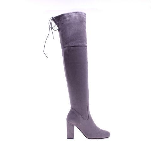 6f23a9a5fb Női Szürke Műbőr Hosszúszárú Csizma - MAGASSZÁRÚ CSIZMÁK - Női cipő ...