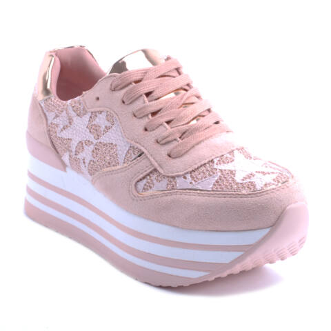 356359419d5b Női Platformos Műbőr Sportcipő Rózsaszín - MAGAS TALPÚ - Női cipő ...