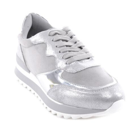 Női Platformos Sportcipő Ezüst