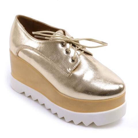 Női Műbőr Platformos Cipő Arany
