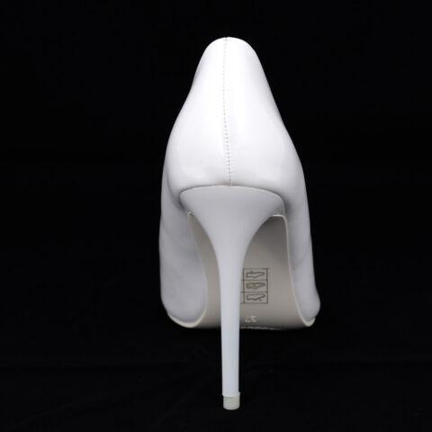 Fehér Lakk Magassarkú Cipő