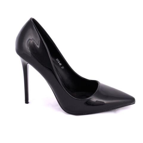 Fekete Lakk Magassarkú Cipő