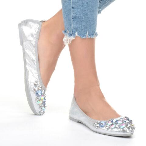 56fa8727181 Női Ezüst Köves Balerina cipő - BALERINA CIPŐK - Női cipő webáruház ...
