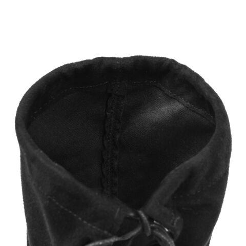 Fekete Művelúr Magassarkú Magasszárú Csizma