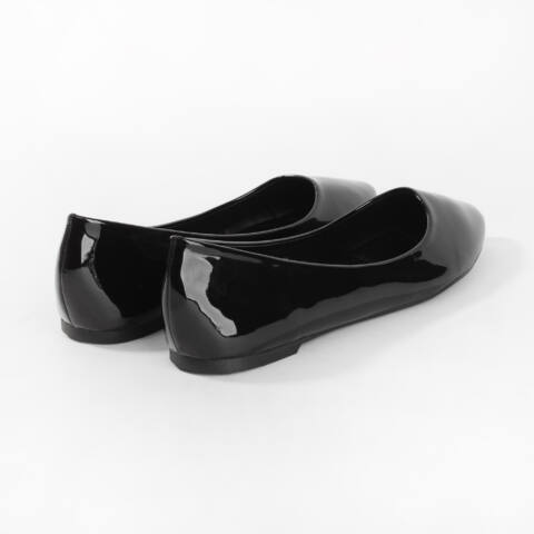 Fekete Lakk Balerina Cipő