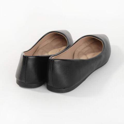 Fekete Műbőr Balerina Cipő