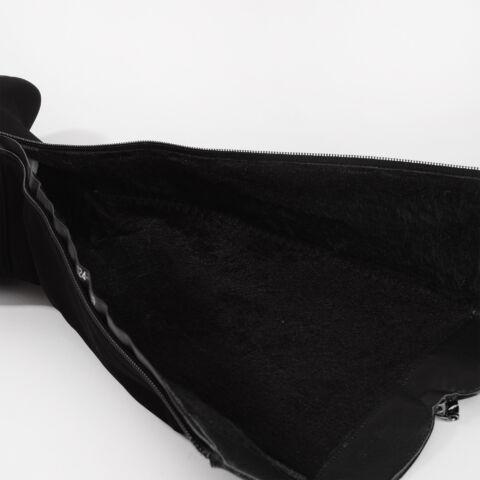 Fekete Bélelt Művelúr Magasszárú Csizma