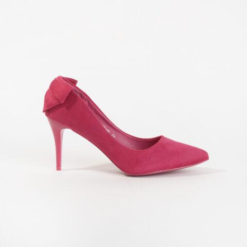 Rózsaszín Masnis Művelúr Magassarkú Cipő