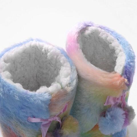 Szivárványszínű Bélelt Téli Mamusz