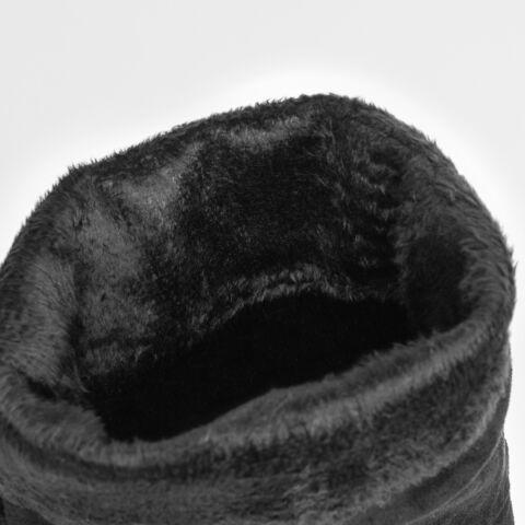 Fekete Női Művelúr Megkötős Magasszárú Csizma