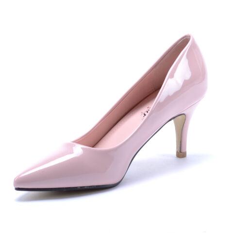 Női Rózsaszín Lakkos Törpesarkú