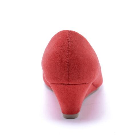 Női Piros Művelúr Törpesarkú