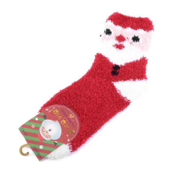 Piros mikulásos vastag zokni 35-38