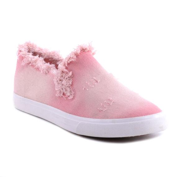 Rózsaszín Női Szövet Slip-On