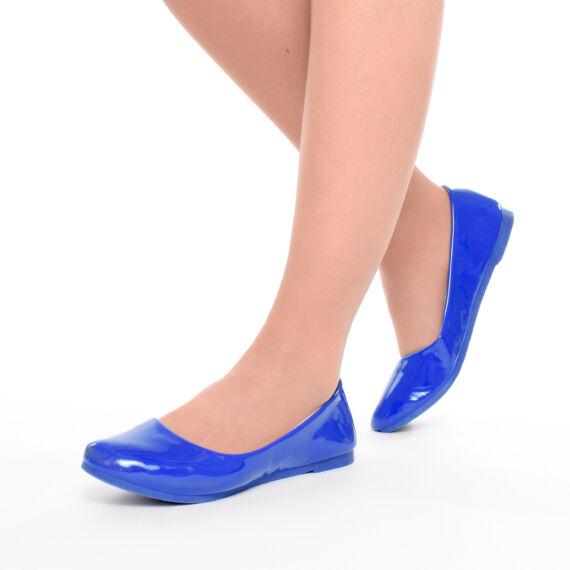 Női Kék Lakk Balerina Cipő