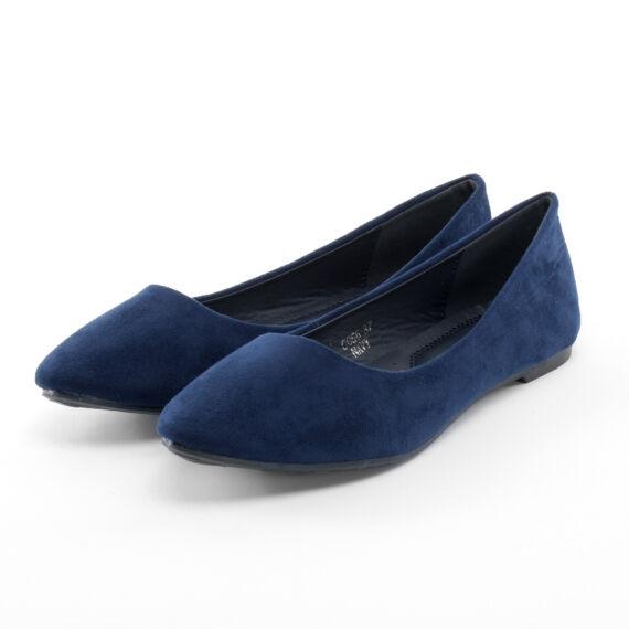 Női Kék Művelúr Balerinacipő