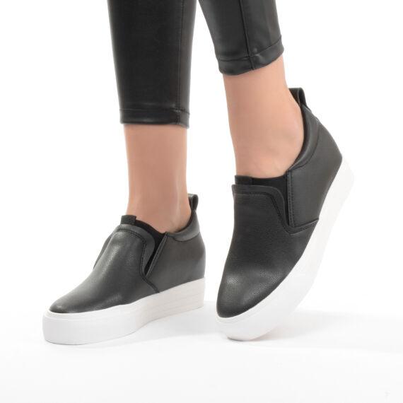 Női Fekete Műbőr Utcai Cipő